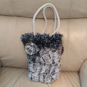 Super Cute Hand Crafted Purse with fur